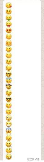 WhatsApp Emoji Dare Messages